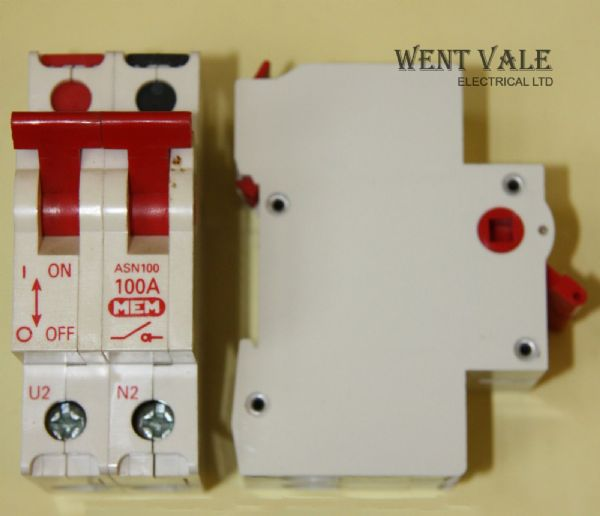 MEM Memera 2000 - ASN100 - 100a Double Pole Switch Disconnector Used